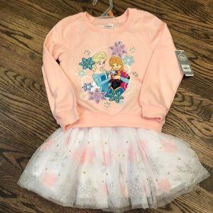 Girls Disney Frozen 2 piece set - sweatshirt/skirt